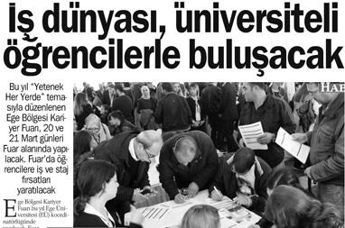 İş dünyasıni üniversiteli öğrencilerle buluşacak